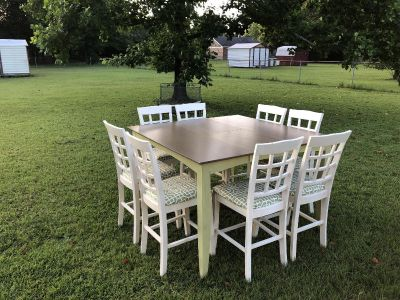 Pub Table and 8 Chairs