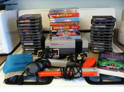 $580, Old School Nintendo Colection 33 Games and more