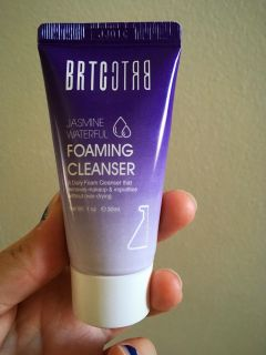 Travel size foaming cleanser