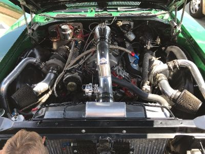 Complete Intercooled twin turbo system for 72 Buick Skylark
