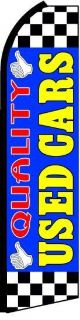 Sell Quality Used Cars Super Feather Flag 15' Flutter Swooper Sign Blue Banner jjc motorcycle in Castle Rock, Washington, US, for US $26.95