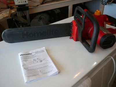"Homelite UT43120 16"" electric chainsaw"