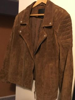 MEN'S EUROPEAN SUEDE BIKER JACKET