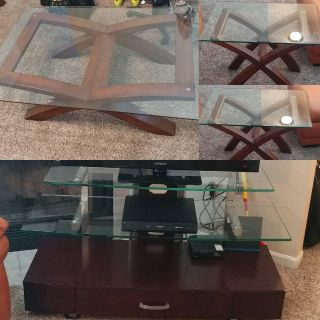 Matching Coffee table set and tv stand