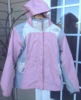 Women's North Face Coat w/hood and zip out Jacket size Medium