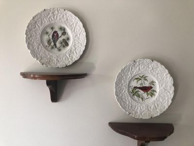 Beautiful decorative plates and shelves