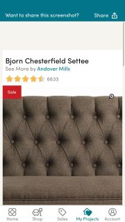 Settee brown new in box