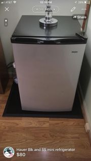 Haier blk and SS mini refrigerator