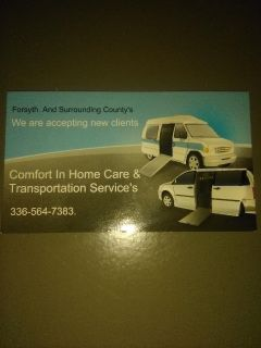 Comfort In Home Care Transportation Service