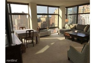 2 bedrooms - is a 17 story mid-century modern high-rise with 230 rental apartments.