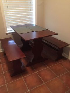 Dining Table and Bench Seats