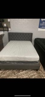 Blue- Grey Bed Frame