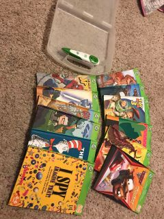 Leap frog tag books and pen
