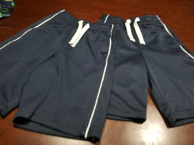 Lot of 2 Faded Glory silky feel navy athletic shorts
