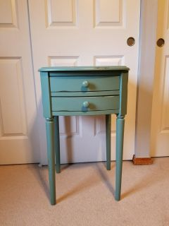 """30"""" tall side table with drawers"""