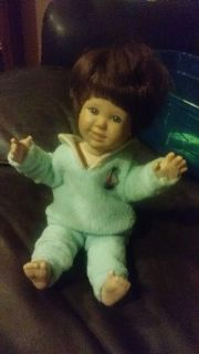 cute vintage porcelain sailor pj doll some yellowing on pj from age