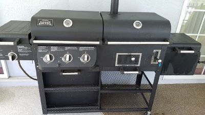 Smoke Hollow 4-in-1 Combo Gas and Charcoal Grill and Smoker