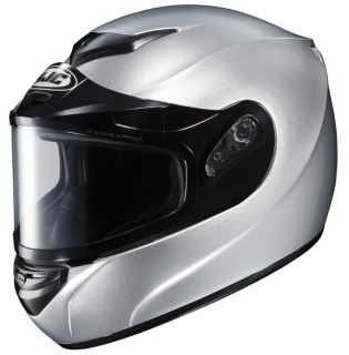 Find HJC CS-R2 Large Silver Gray Dual Lens Snowmobile Snow Sled CSR2 Helmet Lg Lrg L motorcycle in Ashton, Illinois, US, for US $98.99