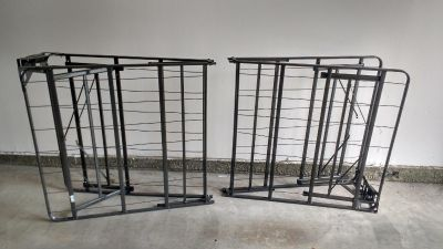 Twin metal frame bed