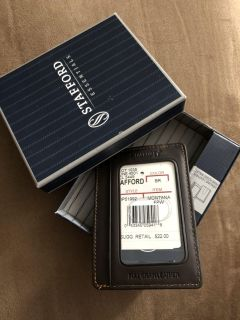 Stafford Genuine Leather Wallet with Money Clip PPU COLUMBIA