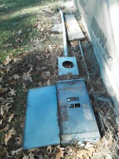 Electrical pole for sale Square D box and breakers trailer house