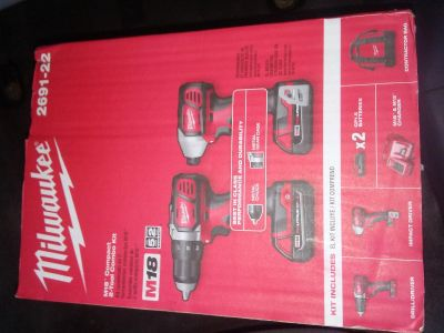 NEVER OPENED 2 pc M18 Milwaukee Drill/Impact Sets