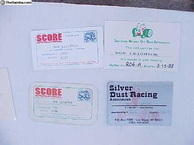 1980's Off Road Driver's License's