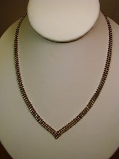 """17"""" Sterling Silver Ball Chain Pointed Collar Necklace"""