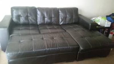 $250, Brown leather sectional 250