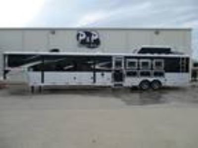 2020 Bison Trailers 8417 PRRSL Premiere 4 Horse 17 Short Wall With Generator 4