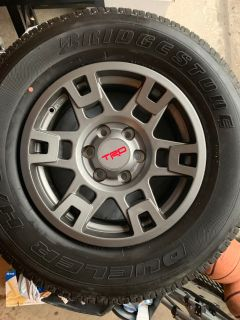 17 TRD wheels and tires