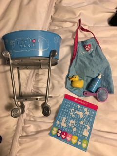 American Girl Pet wash set (stickers used)