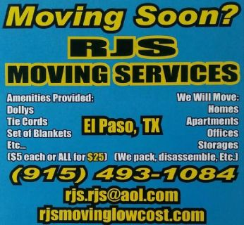 RJS MOVING > 2 PROS For $35 Per Hour!