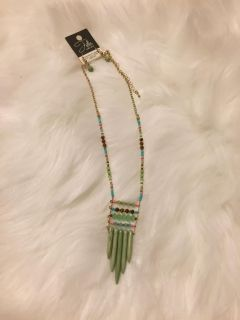 Boho chic necklace and earring statement jewelry
