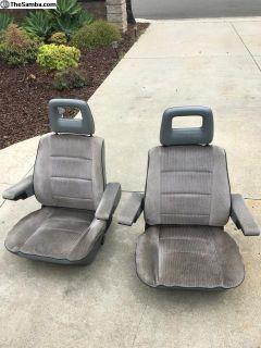 Gray Vanagon front seats