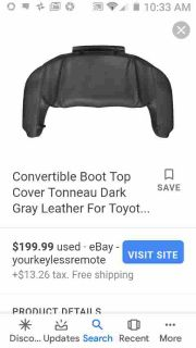Convertible boot top