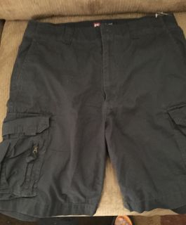 Chaps charcoal cargo shorts size 33