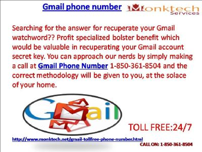 Is Gmail phone Number Solid or Not 1-850-361-8504?