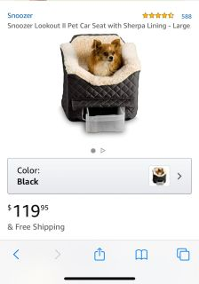 Snoozer Pet Dog Cat Puppy Lookout Car Seat GUC