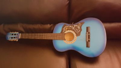 Turquoise Acoustic Guitar