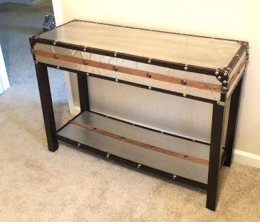 Wood and Metal Entry/Console Table
