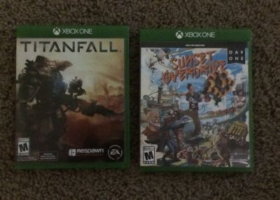 XBOX ONE video games TITANFALL. SUNSET OVERDRIVE