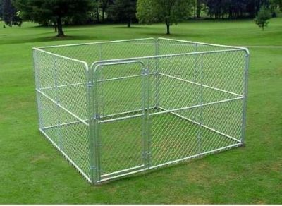Pipe & Steel Dog Kennel, 100 square feet x 6 ft. high