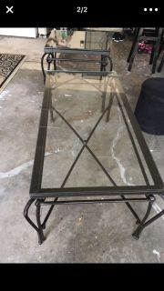 Pier one glass coffee table