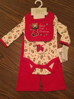 Baby s First Christmas Outfit NEW BOYS