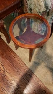 set of 2 round end tables by Bombay furniture