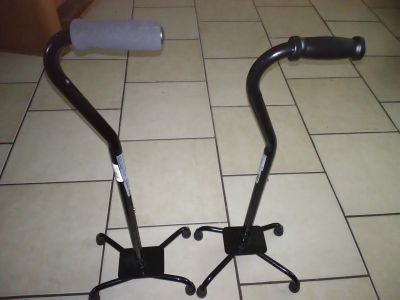 Brand new 2 Medline Bariatric Quad Canes with Large Base, Black