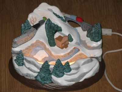 Holiday Winter Mountain Scene Tabletop Piece