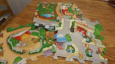 Farm town play mat