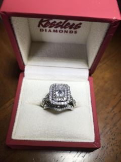Kessler s Stunning Wedding Ring-2 cts, Amazing Deal. Size 5.5 but can be resized up to size 8, have all paperwork (see in comments)